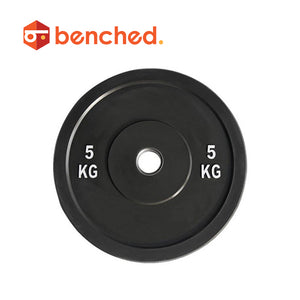 Benched Fitness Black Rubber Bumper Plate Pairs