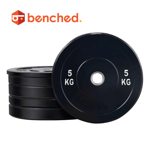 Benched Fitness Black Rubber Bumper Plate Set