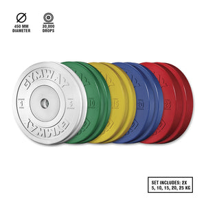 GYMWAY Competition Bumper Plate Set - Gym Concepts