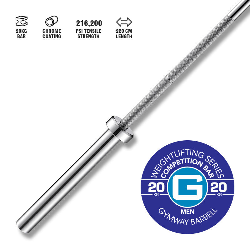 GYMWAY Competition Weightlifting Bar 20kg