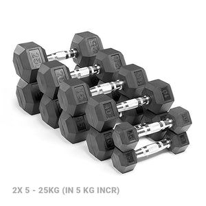 AlphaState Functional Hex Dumbbell Set (5-25kg) - Gym Concepts
