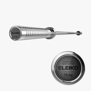 Eleiko Power Lock Weightlifting Bar 15kg - Gym Concepts