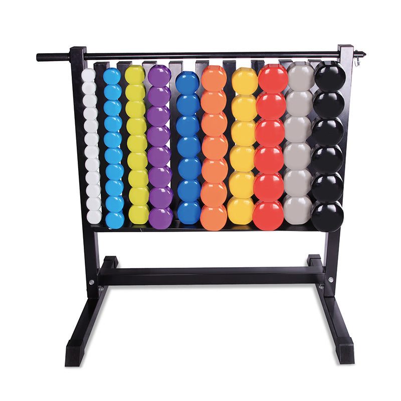 AlphaState Vinyl Dumbbell Rack - Gym Concepts