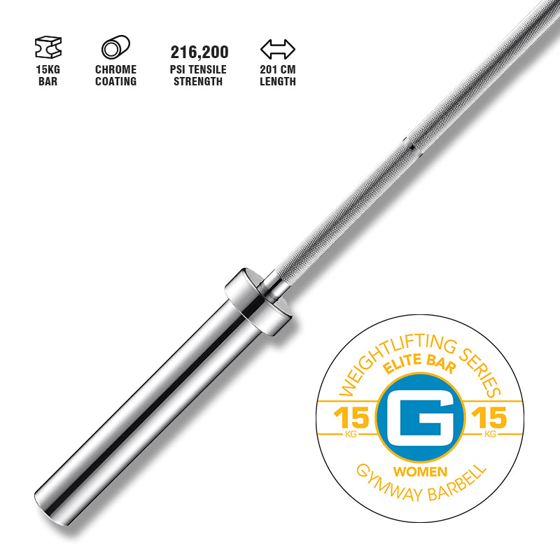 Gymway Elite Weightlifting Bar 15kg - Gym Concepts