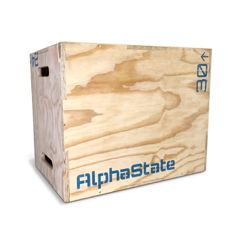 AlphaState Wooden Plyometric Box - Gym Concepts