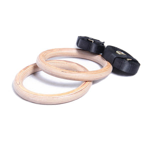 AlphaState Wooden Gym Rings