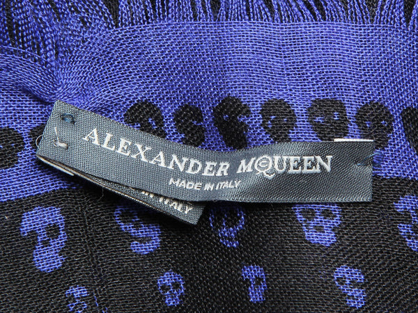 Alexander McQueen Purple and Black Skull Scarf