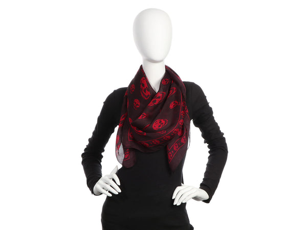 Alexander McQueen's Red and Black Skull Scarf