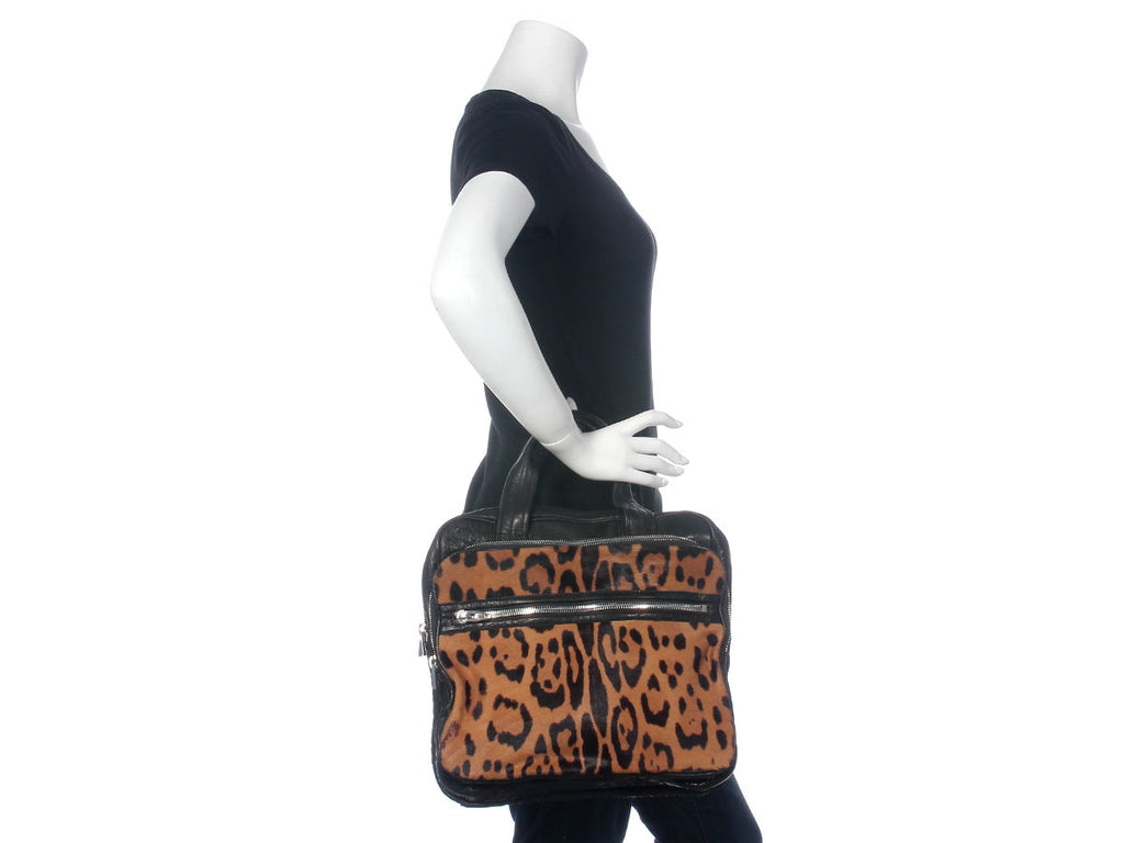 Alexander Wang Leopard Pony Hair Millie