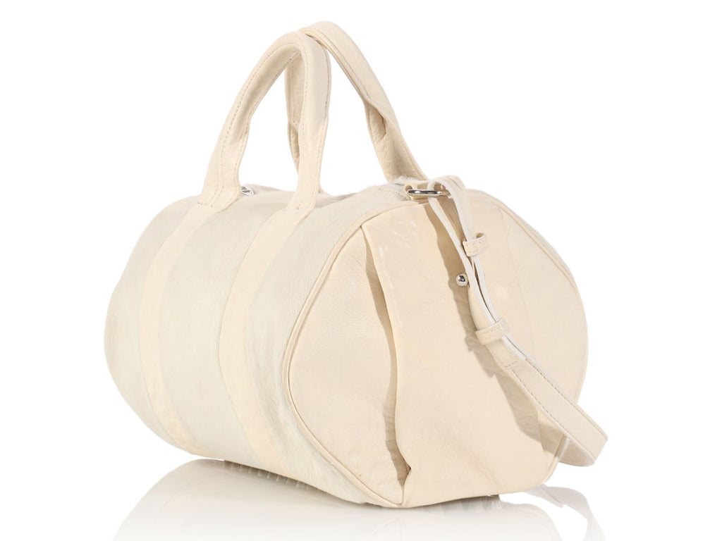 Alexander Wang White Pony Hair Rocco