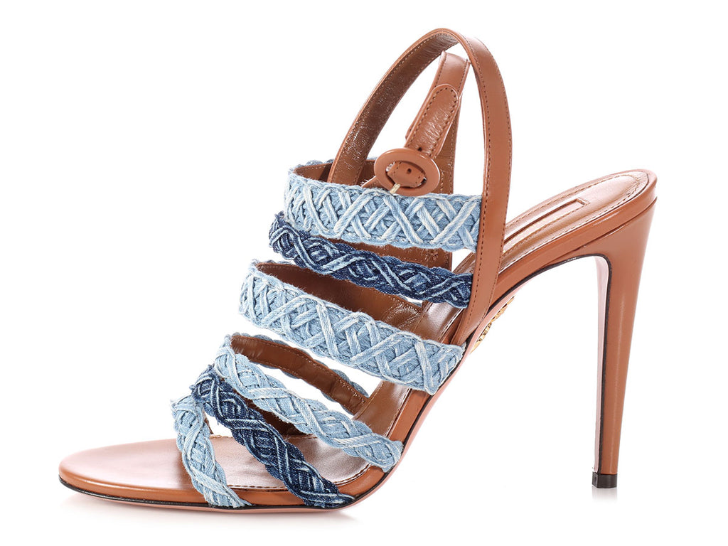 Aquazzura Tyra Denim Sandals