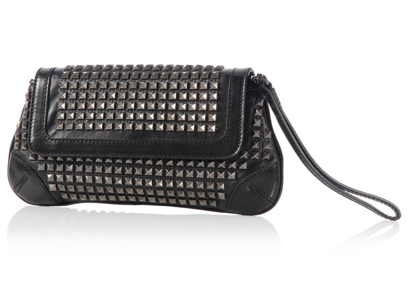 Burberry Black Studded Clutch