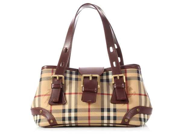 Burberry Small Haymarket Check Buckle Bag