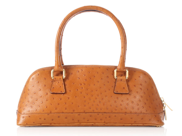 Burberry Tan Ostrich Bag
