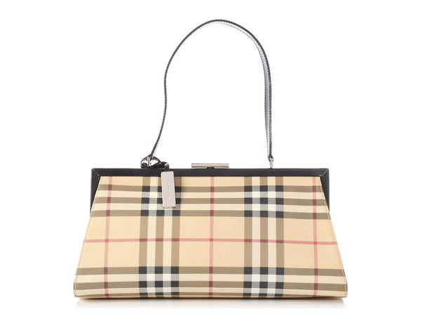 Burberry Medium Nova Check Frame Bag