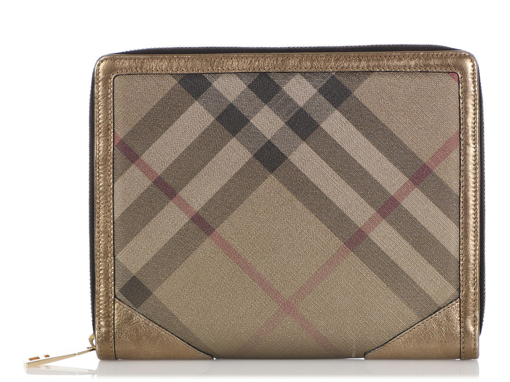 Burberry Gold Check Iconic Tablet Case