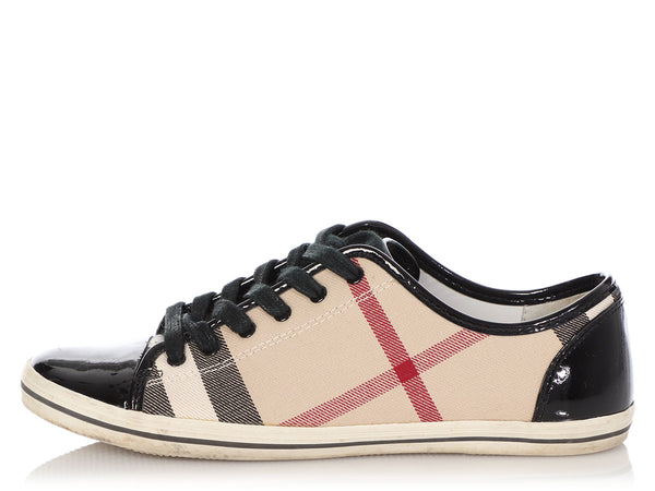Burberry Check and Patent Sneakers