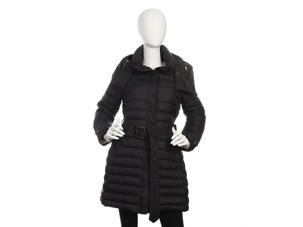 Burberry Brit Black Quilted Colebrooke Coat