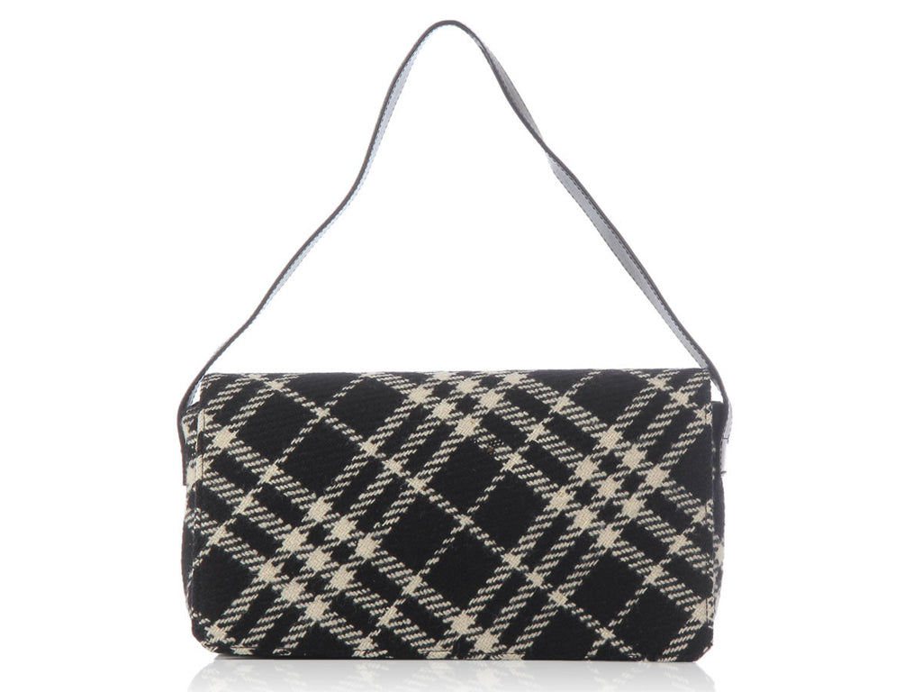 Burberry Black and White Check Bag