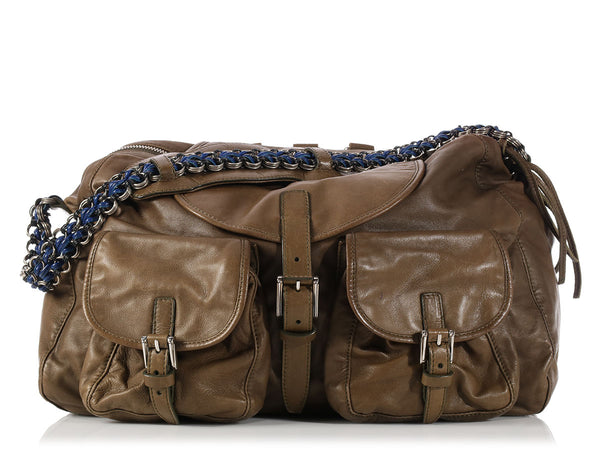 Balenciaga 2010 Olive Chaine Shoulder Bag