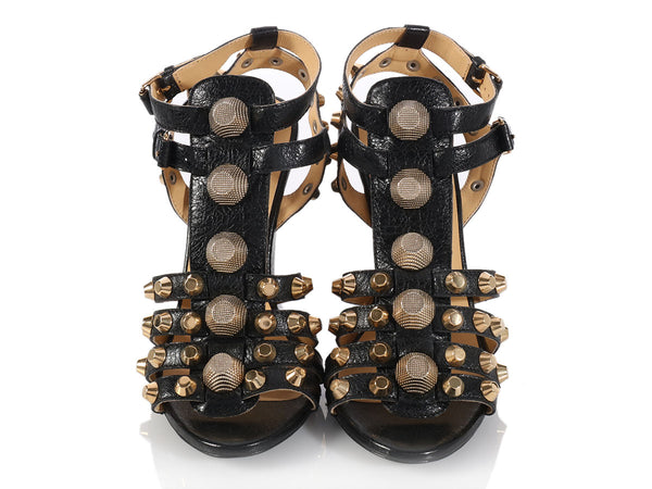 Balenciaga Black Arena Wedge Sandals