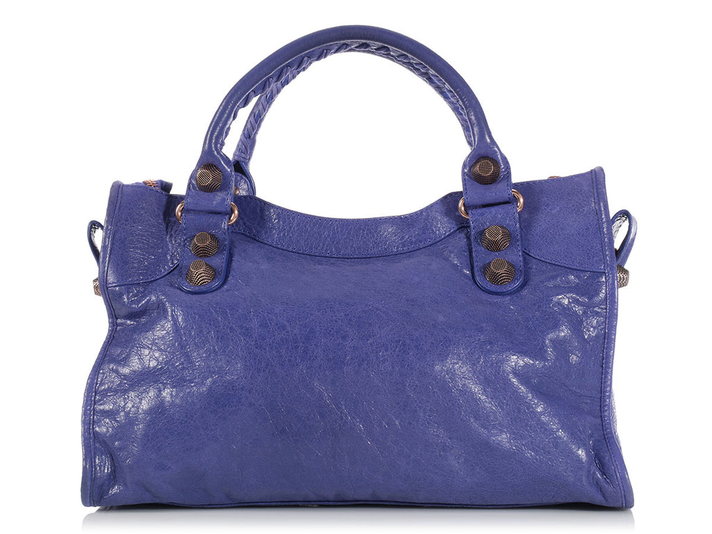 Balenciaga Bleu Lavand Giant Rose Gold City
