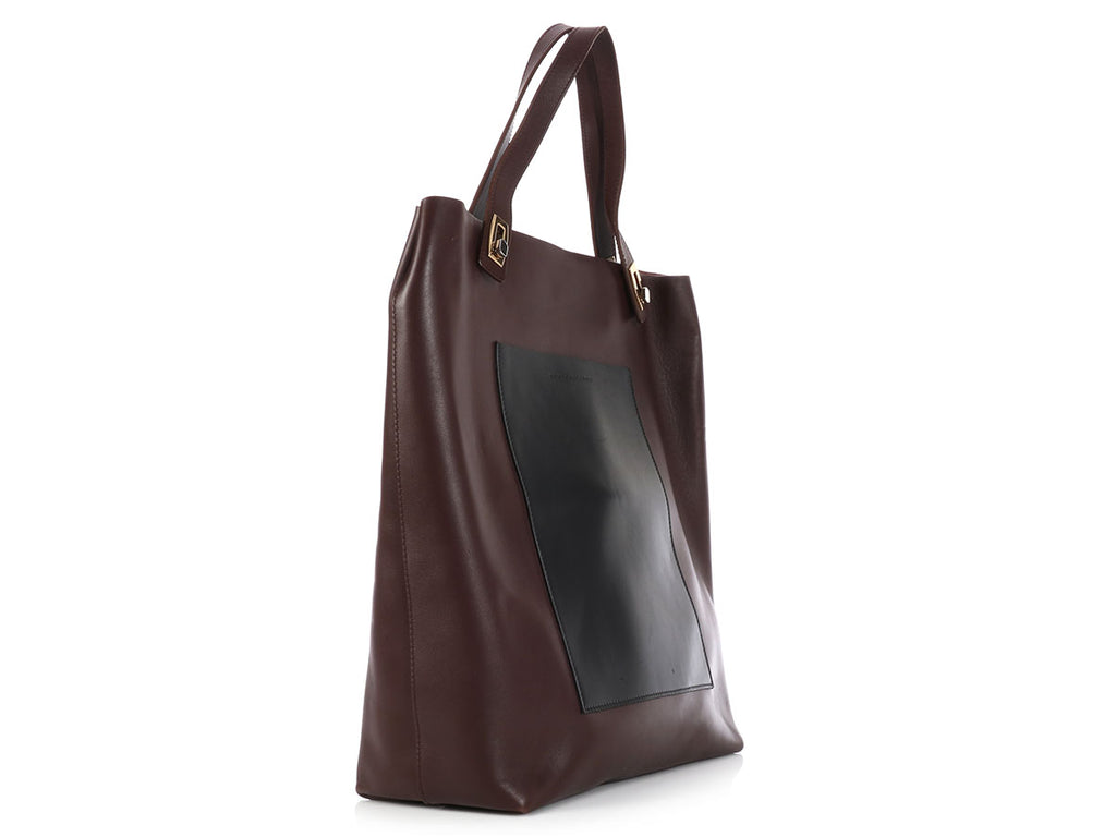 Balenciaga Brown Colorblock Tote