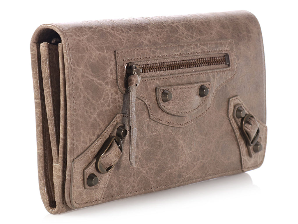 Balenciaga Taupe Classic Money Wallet