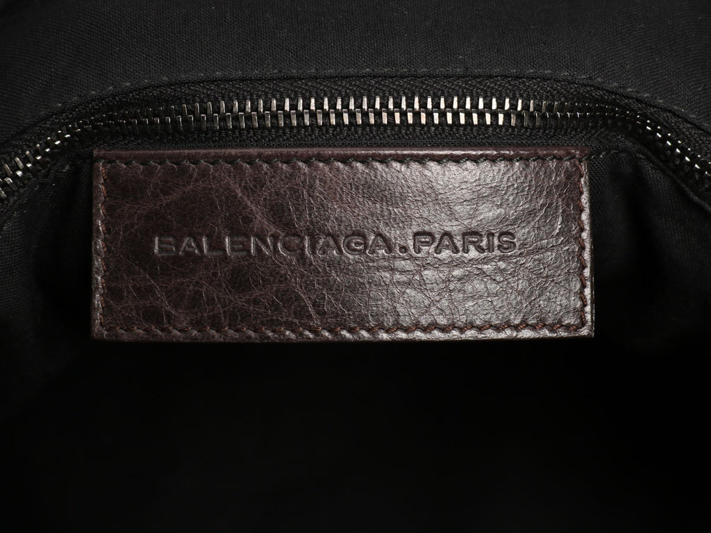 Balenciaga Dark Brown Classic Mini Folder