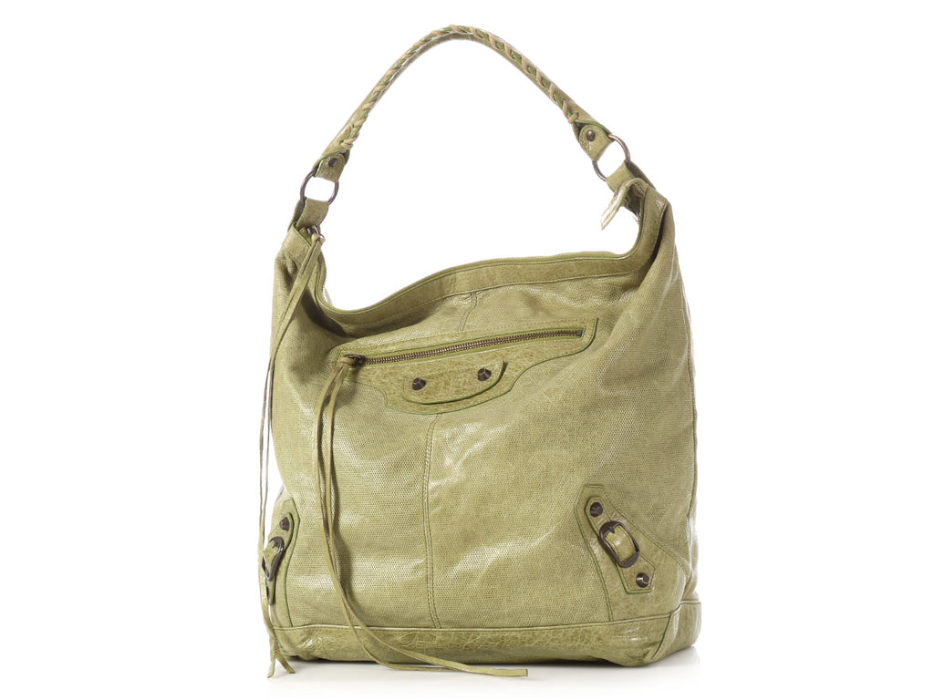Balenciaga 2010 Classic Olive Perforated Day