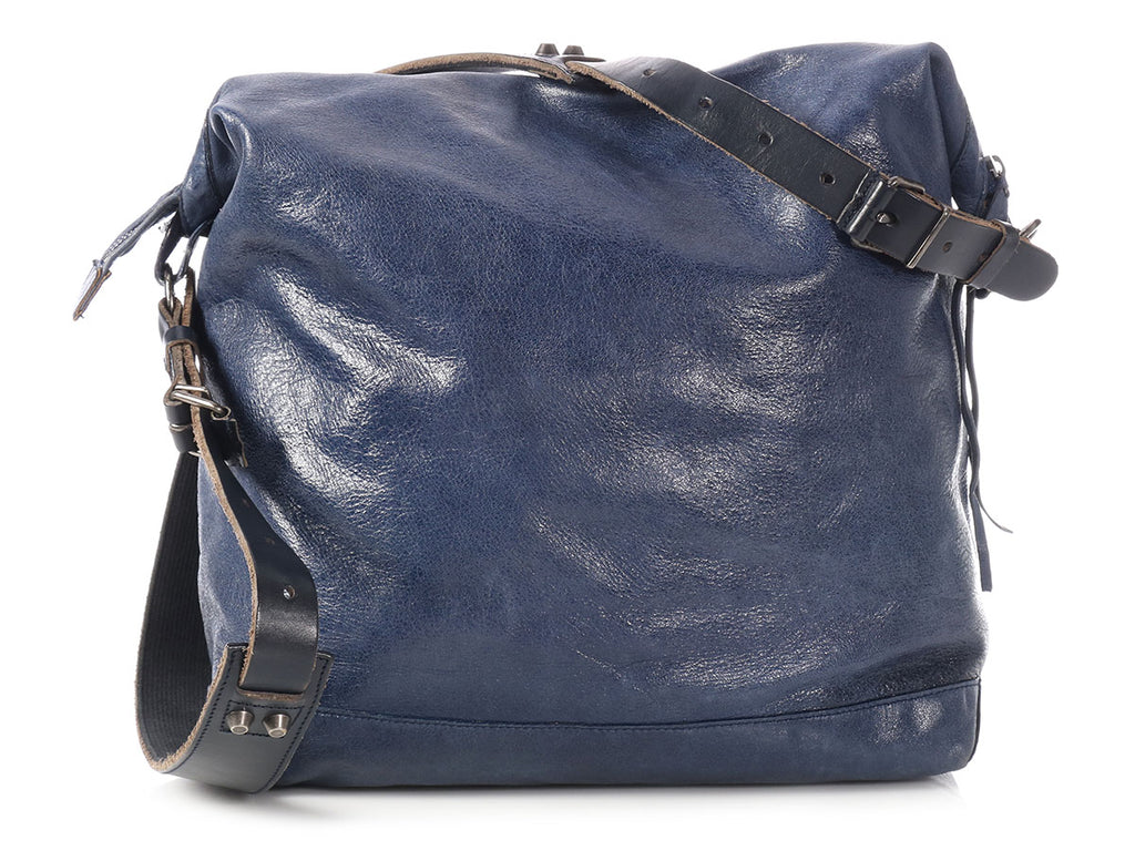 Balenciaga 2006 Blueberry Chevre Classic Messenger Day Bag