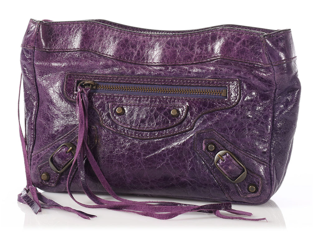 Balenciaga 2008 Purple Classic Trousse Maquillage