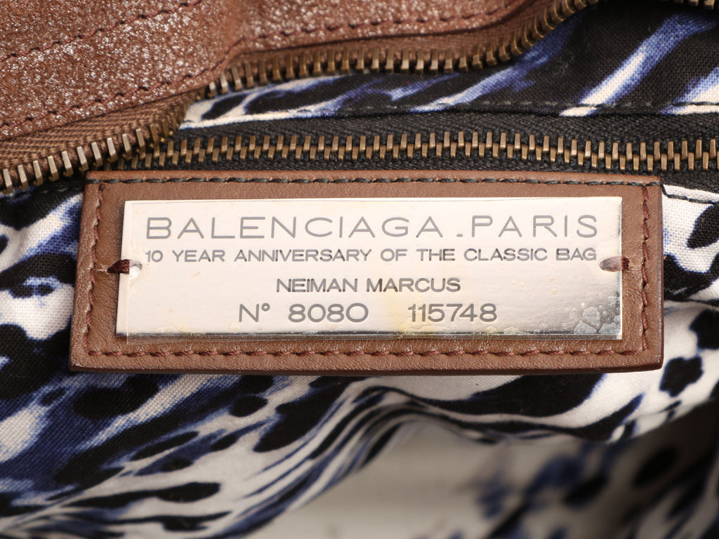 Balenciaga Limited Edition Bronze Calfskin Classic City