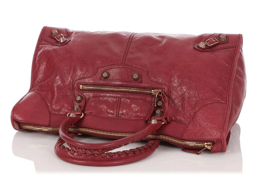 Balenciaga Burgundy Giant 12 Rose Gold Work