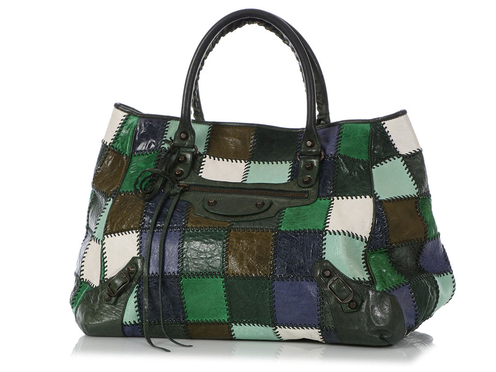 Balenciaga Multicolor Patchwork Sunday Tote