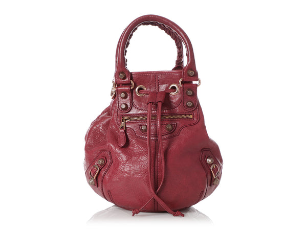 Balenciaga Mini Burgundy Giant 12 Rose Gold Pompon