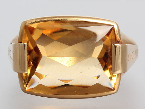 Bulgari Citrine Metropolis Ring