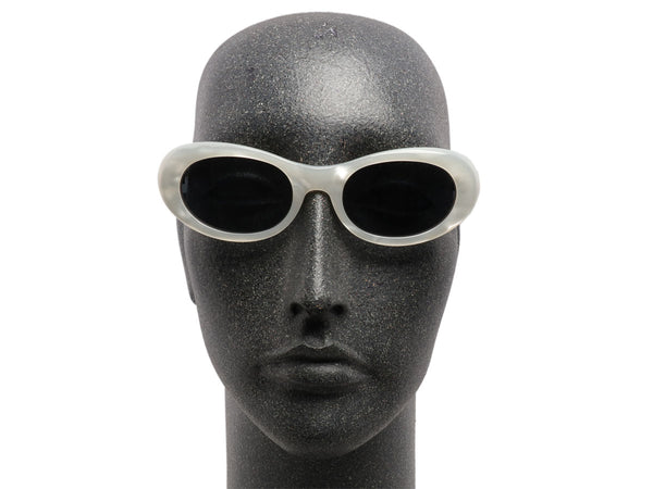 Bulgari White Pearlescent Sunglasses