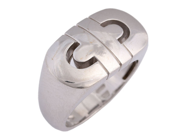 Bulgari 18K White Gold Parentesi Ring
