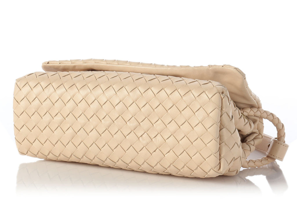 Bottega Veneta Cream Leather Bag