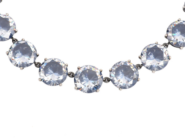 Bottega Veneta Pepita Crystal Necklace