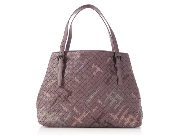 Bottega Veneta Glicine Woven Leather Tote