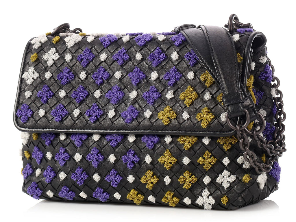 Bottega Veneta Multicolor Embroidered Olimpia Bag