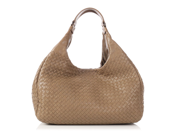 Bottega Veneta Large Campana Brown Intrecciato Nappa Bag