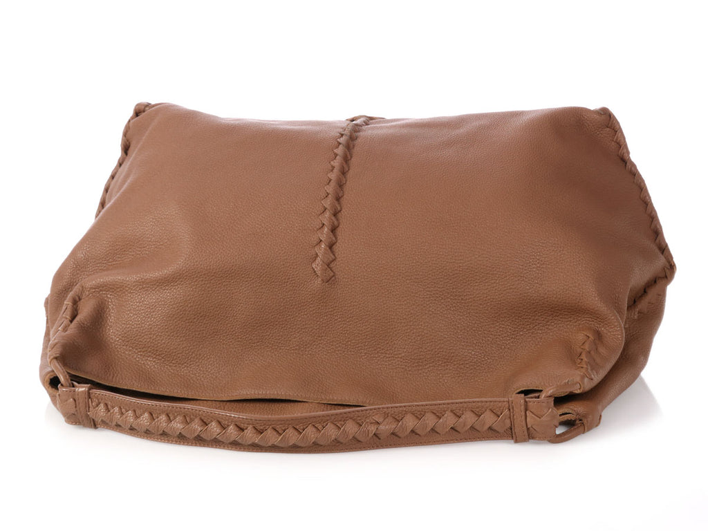 Bottega Veneta Brown Deerskin Cervo Hobo
