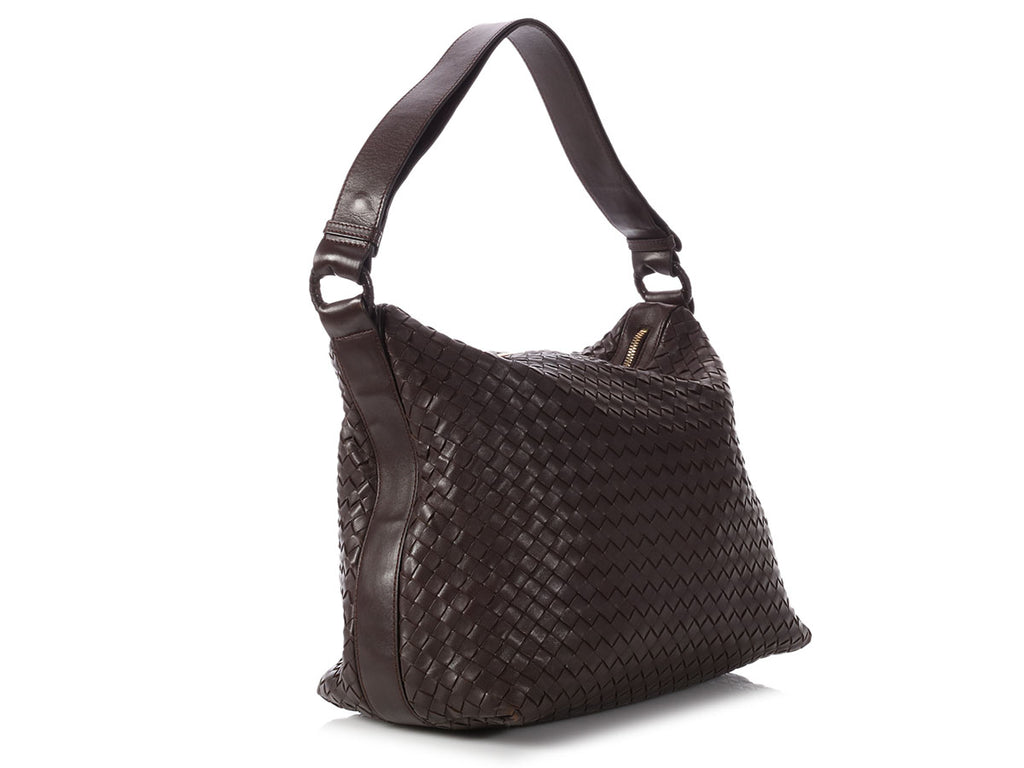 Bottega Veneta Brown Intrecciato Pyramid Bag
