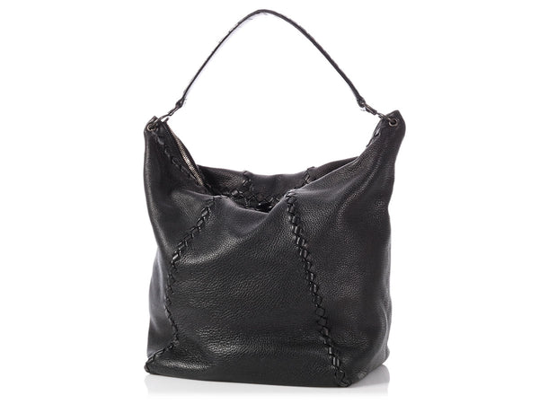 Bottega Veneta Black Cervo Hobo