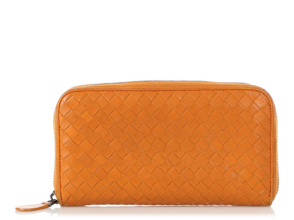 Bottega Veneta Tan Intrecciato Continental Wallet