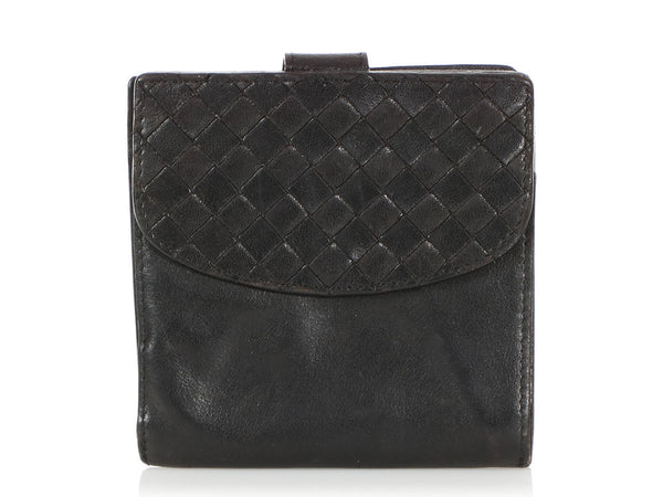 Bottega Veneta Black Compact Wallet