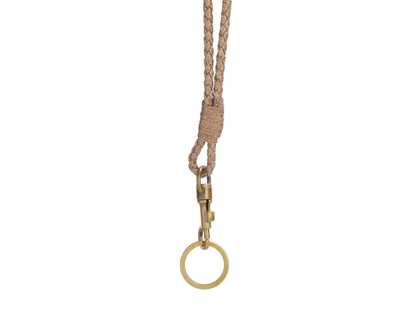 Bottega Veneta Gold Leather Lanyard